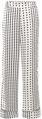 Asceno Polka-dot silk pajama pants