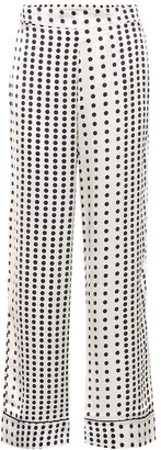 ASCENO Polka-dot silk pajama pants
