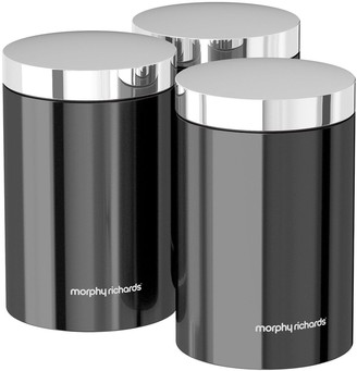 Morphy Richards Accents Set Of 3 Storage Canisters- Translucent Black