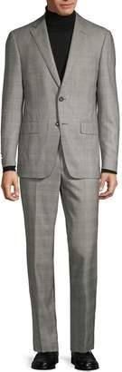 Saks Fifth Avenue Standard-Fit Glen Plaid-Print Wool Suit