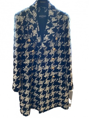 Balmain Black Wool Coat for Women