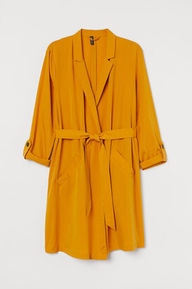 H&M H&M+ Modal-blend Trenchcoat - Yellow