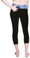 Cool Kushutara Jet Black Essential Cropped Legging