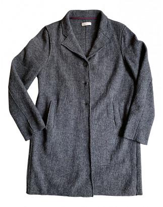 Stefanel Anthracite Wool Coats