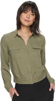 Apt. 9 Women's Button-Up Banded Bottom Shirt