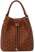 Brown Perforated Hobo & Pouch