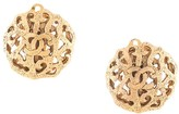 Chanel Pre Owned cut off round CC clip-on earrings