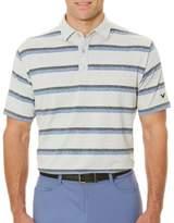 Callaway Short Sleeve Opti-Soft Golf Performance Heather Printed Stripe Polo Shirt