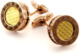 James Cavolini Italy James Cavolini Italian IP Gold Two-Tone Roman Numeral Cuff Links