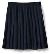 Classic Juniors Solid Pleated Skirt Below the Knee-Khaki
