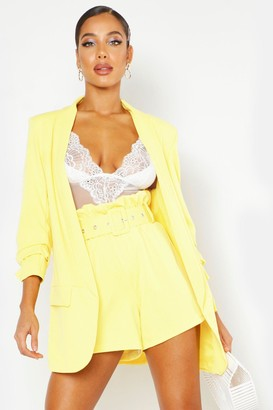 boohoo Tailored Paper Bag Belted Short