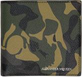 Alexander McQueen Green Camouflage Wallet