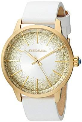 Diesel Women's Castilia Stainless Steel Quartz Watch with Leather Calfskin Strap