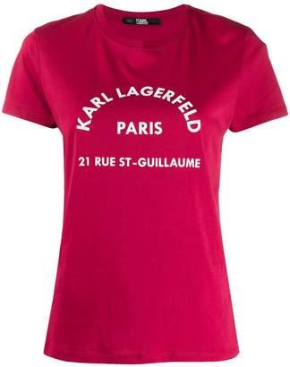 Karl Lagerfeld Paris address print T-shirt