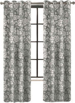 JCPenney Colordrift Penelope Faux Silk Grommet-Top Curtain Panel