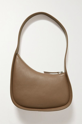 The Row Half Moon Leather Shoulder Bag - Brown