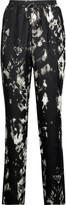 Roberto Cavalli Printed silk crepe de chine tapered pants