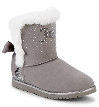 Juicy Couture Girl's Burbank Embellished Faux Fur-Trimmed Lined Winter Boots