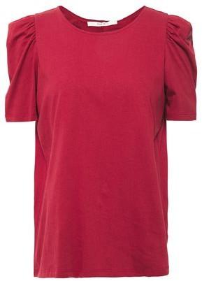 BA&SH Ruched Split-back Cotton-jersey T-shirt