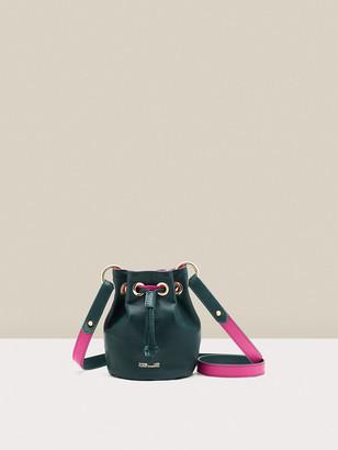 Diane von Furstenberg Stassi Reversible Leather Mini Bucket Bag
