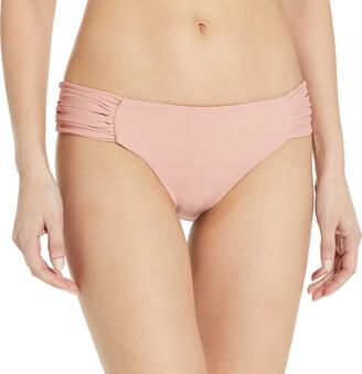 Luli Fama Women's Cosita Buena Scrunch Panty Full Back Bikini Bottom Swimwear