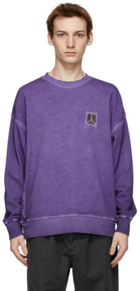 Saturdays NYC Purple Washed Ari Peace Sweatshirt