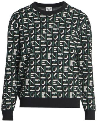Kenzo Logo Intarsia Knit Sweater
