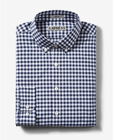 Express fitted tech easy care check shirt