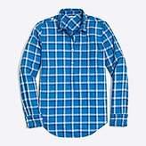 J.Crew Factory Plaid gauze shirt in boy fit