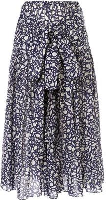 Sara Lanzi Tie-Fastening Wrap Skirt