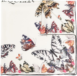 Alexander McQueen Butterfly Decay printed scarf