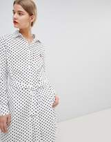 Essentiel Antwerp Shirt Dress in Polka Dot