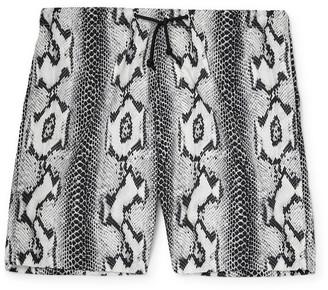 Wacko Maria Snake-Print Shell Shorts