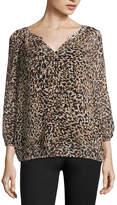 Liz Claiborne 3/4 Sleeve Woven Blouse - Tall