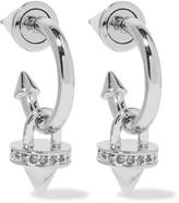 Eddie Borgo Silver-plated, stone and crystal hoop earrings