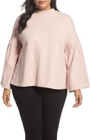 Vince Camuto Plus Size Women's Bell Sleeve Top