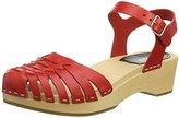 Swedish Hasbeens Women's Snake Debutant Platform Sandal