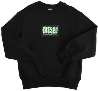 Diesel Cotton Sweatshirt W/ Logo Patch