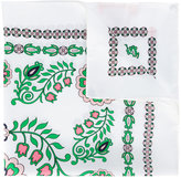 Tory Burch floral border print neck scarf - women - Silk - One Size