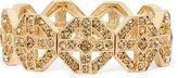 MONET JEWELRY Monet Brown Crystal Gold-Tone Stretch Bracelet