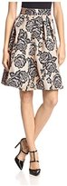 Gracia Women's Floral Flared Skirt
