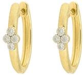 Mikimoto Jude Frances 18K Yellow Gold 0.06ct. Diamond Provence Hoop Earrings