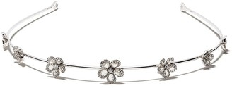 David Morris 18kt white gold diamond Miss Daisy Flower tiara