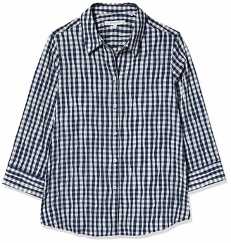 Foxcroft Women's 3/4 Sleeve Sue in Crinkle Gingham Shirt