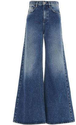 ATTICO Wide-Leg Flared Jeans