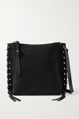 Isabel Marant Irope Leather-trimmed Suede Shoulder Bag