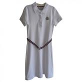 Moncler White Cotton Dress
