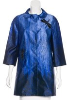 Andrew Gn Abstract Print Silk Jacket