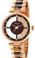 Kenneth Cole New York Women's KC4766 Rose Gold Transparent Dial Round Watch