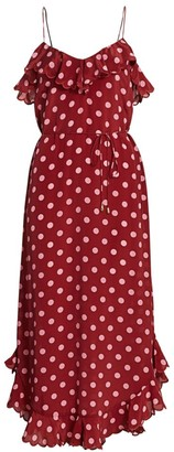 Zimmermann Polka Dot Scallop Tank Midi Dress
